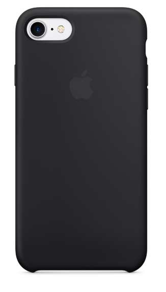 Coque en silicone iPhone 7 noir