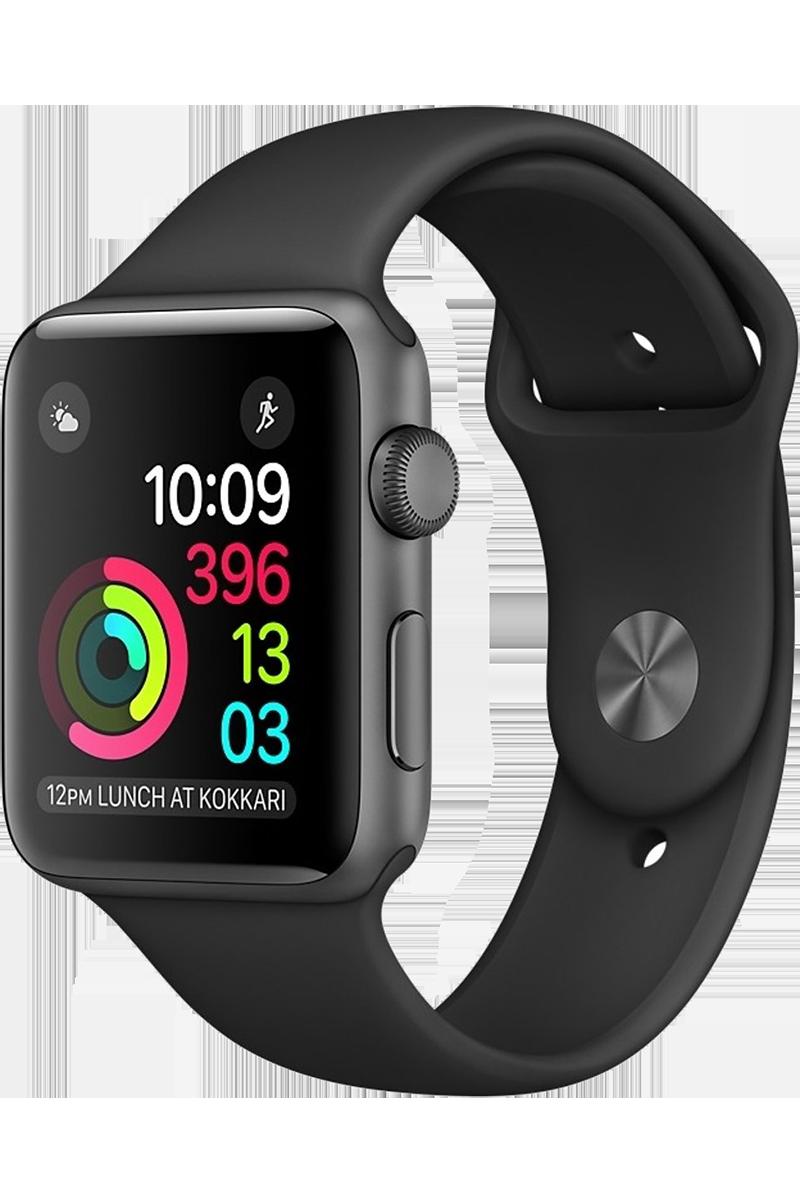 Apple Watch Series 2 42mm gris sidéral bracelet sport noir