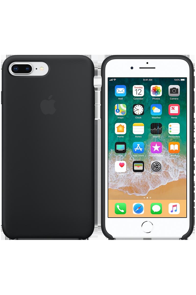 Coque en silicone pour iPhone 8 Plus / 7 Plus noir