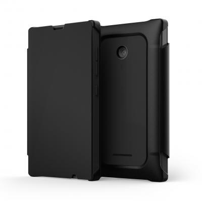 Folio Mozo Nokia Lumia 435 noir