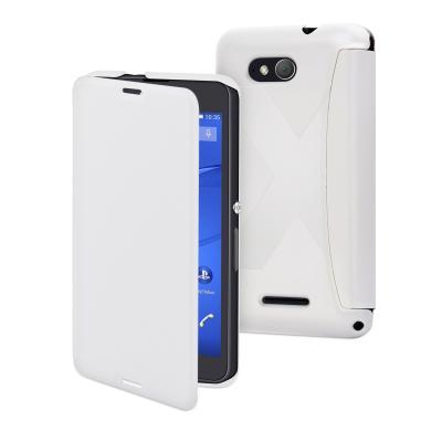 Folio Muvit Sony Xperia E4G blanc