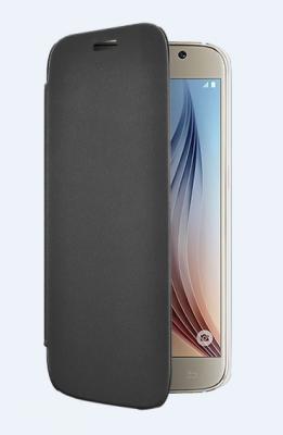Etui folio noir Galaxy S6