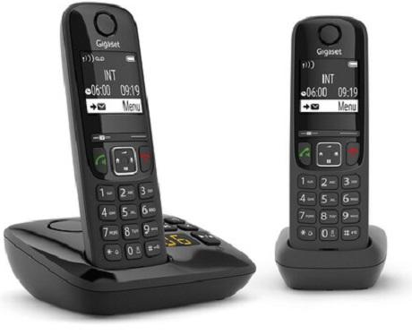 Téléphone fixe Gigaset AS 690 A Duo répondeur