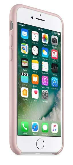 Coque en silicone iPhone 7 rose