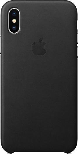 Coque en cuir iPhone X - noir