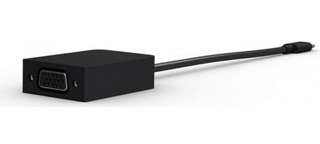 Adaptateur Microsoft USB-C vers VGA noir