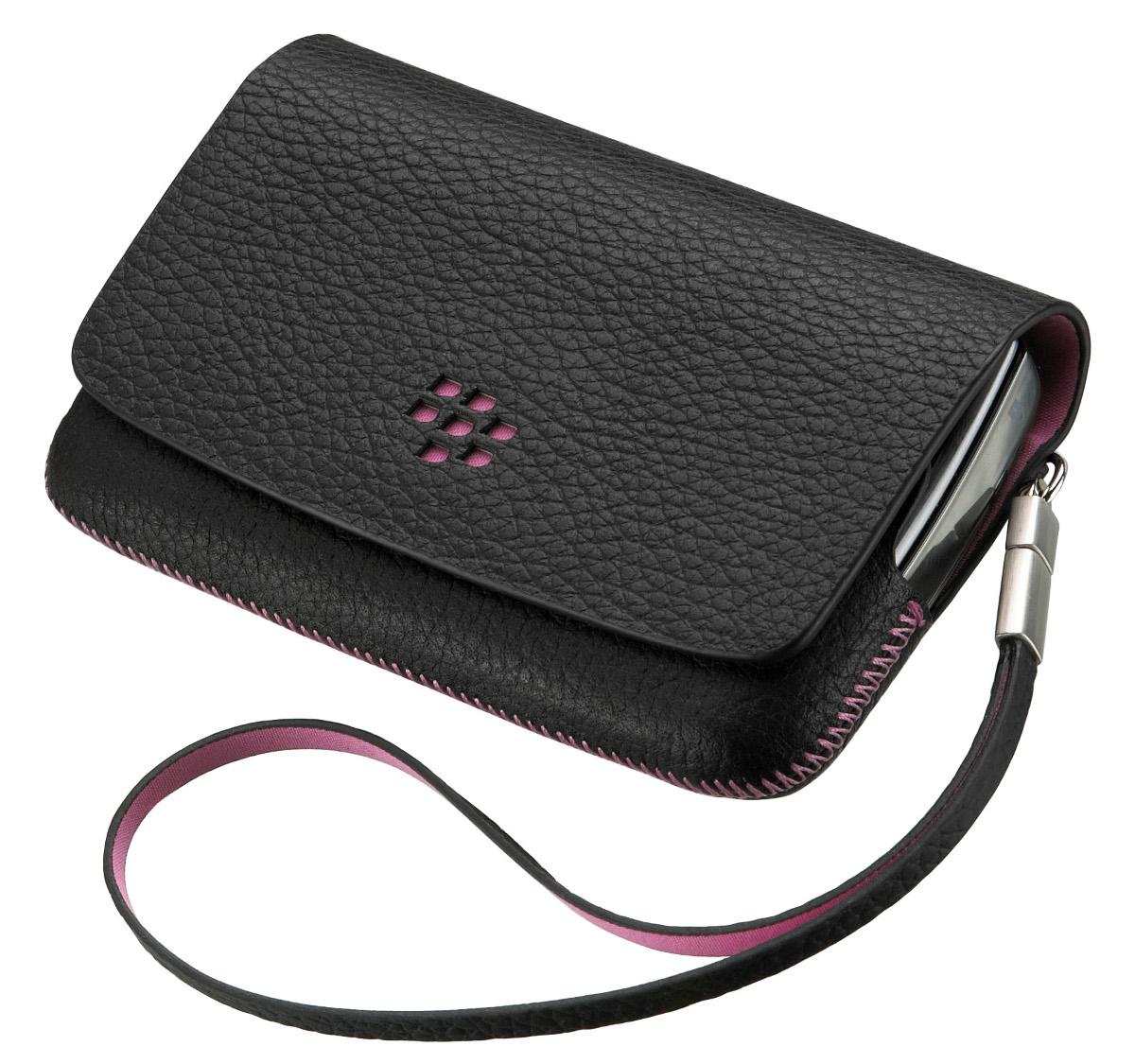 Etui Folio Noir BlackBerry 9800