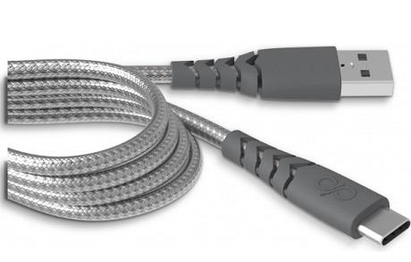 Câble renforcé USB-C Force Power 2M noir
