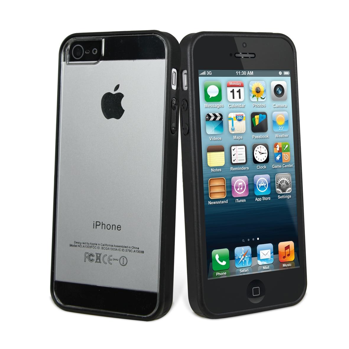Coque bimatière noire Iphone 5s