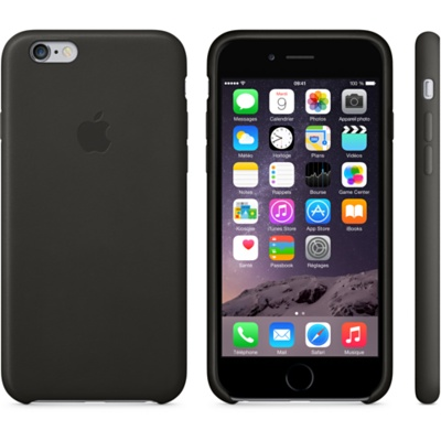 Coque en cuir Iphone 6 Plus noir