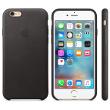 Coque en cuir iPhone 6s - Noir