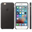 Coque en cuir iPhone 6s Plus - Noir