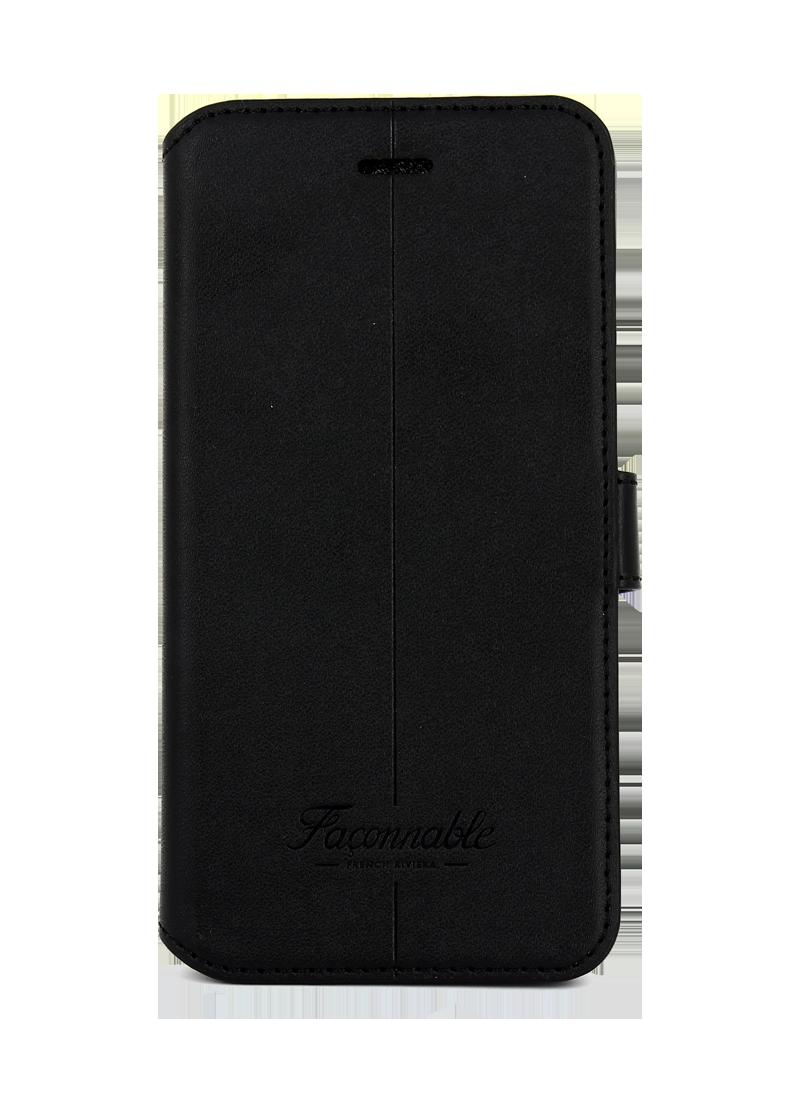 Etui à rabat Faconnable pour iPhone 6s / 7 / 8 noir