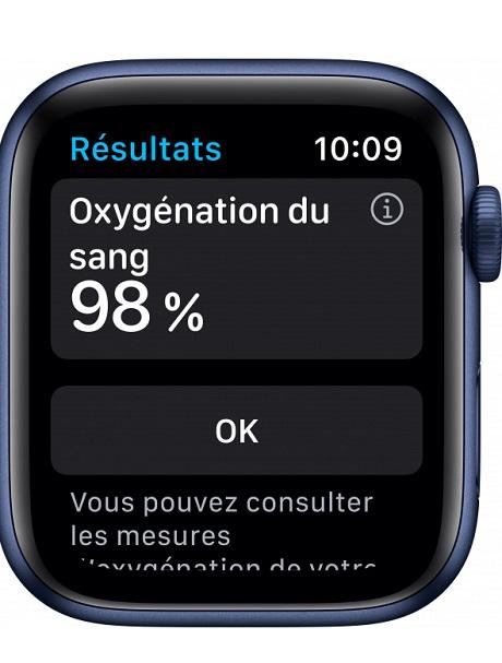 Apple Watch Series 6 4G Alu 44mm bleu 32Go