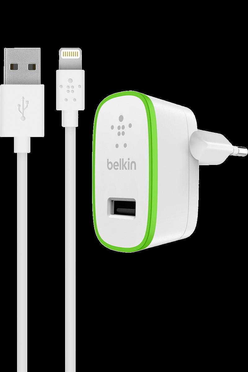Chargeur secteur Lightning Belkin 2,4A blanc