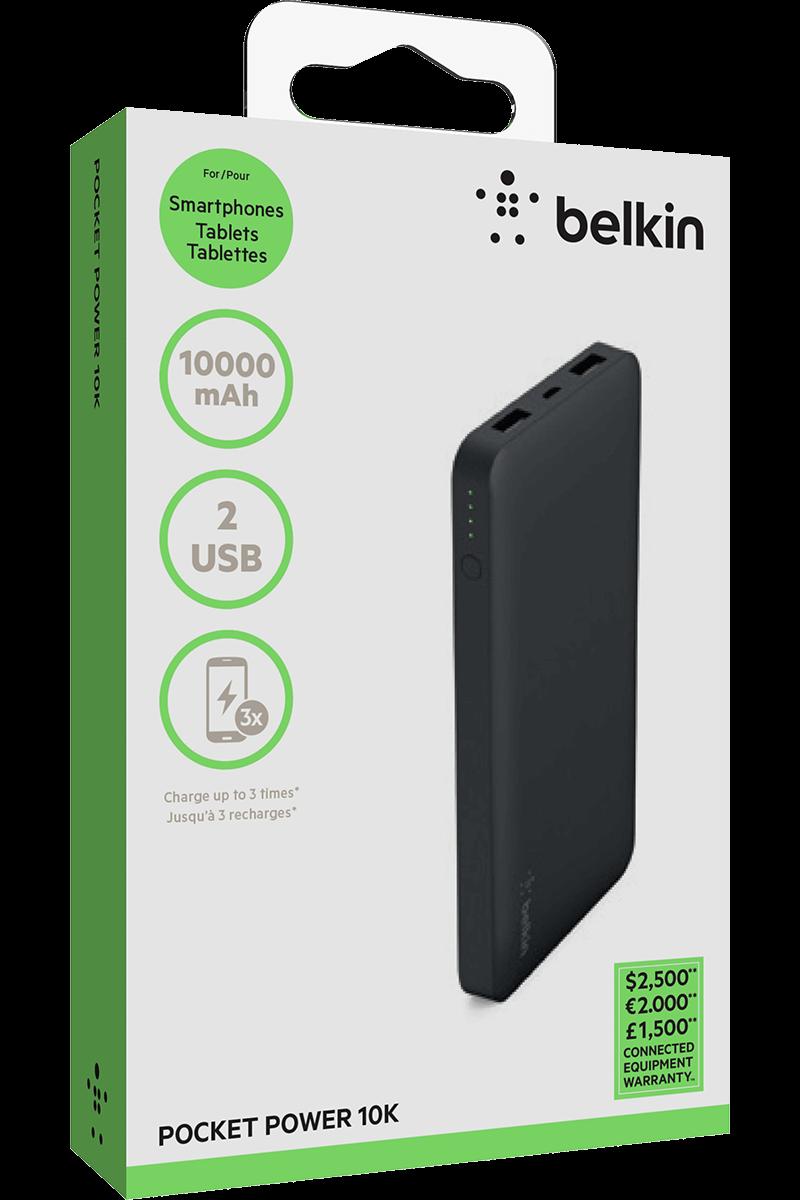 Batterie de secours Belkin 10 000 mAh noir