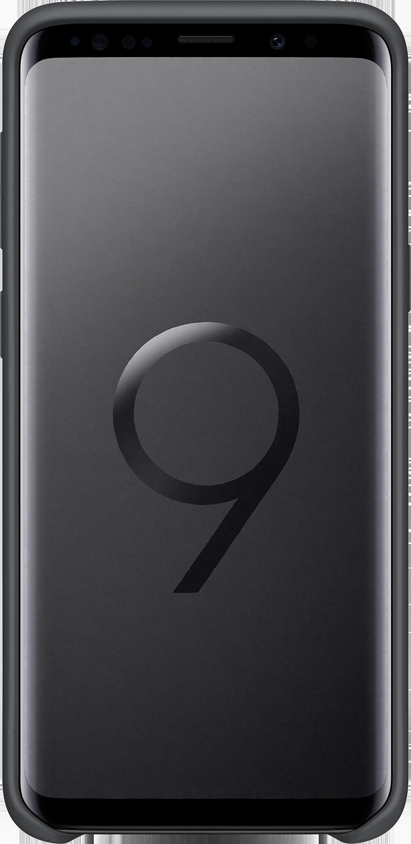 Coque Samsung silicone Galaxy S9 noir