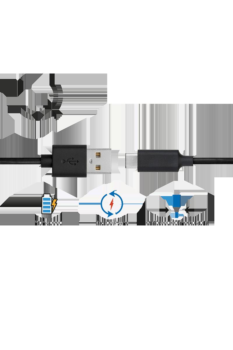 Câble charge et synchronisation USB C 1m noir