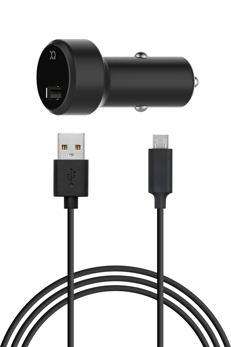 Chargeur allume cigare 2.4A micro USB noir