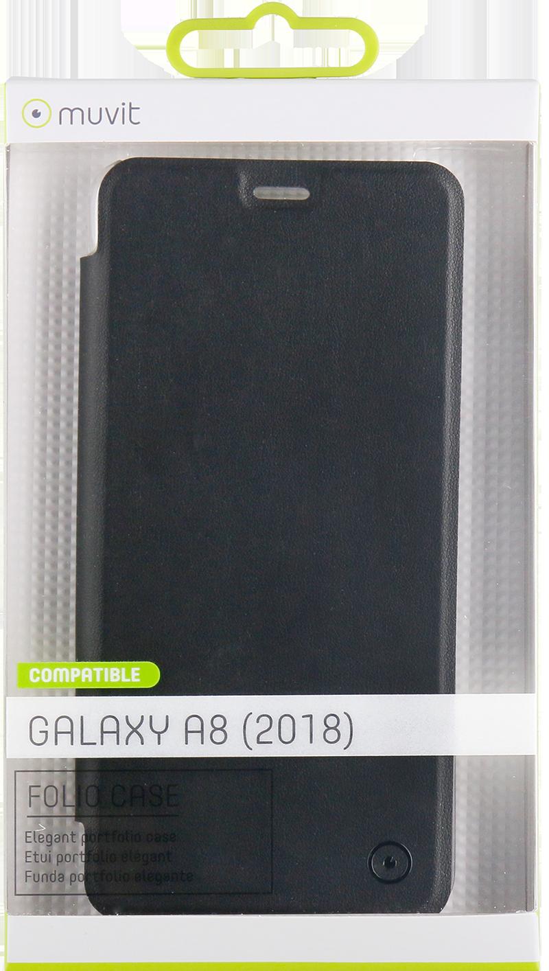 Etui folio Muvit Galaxy A8 noir