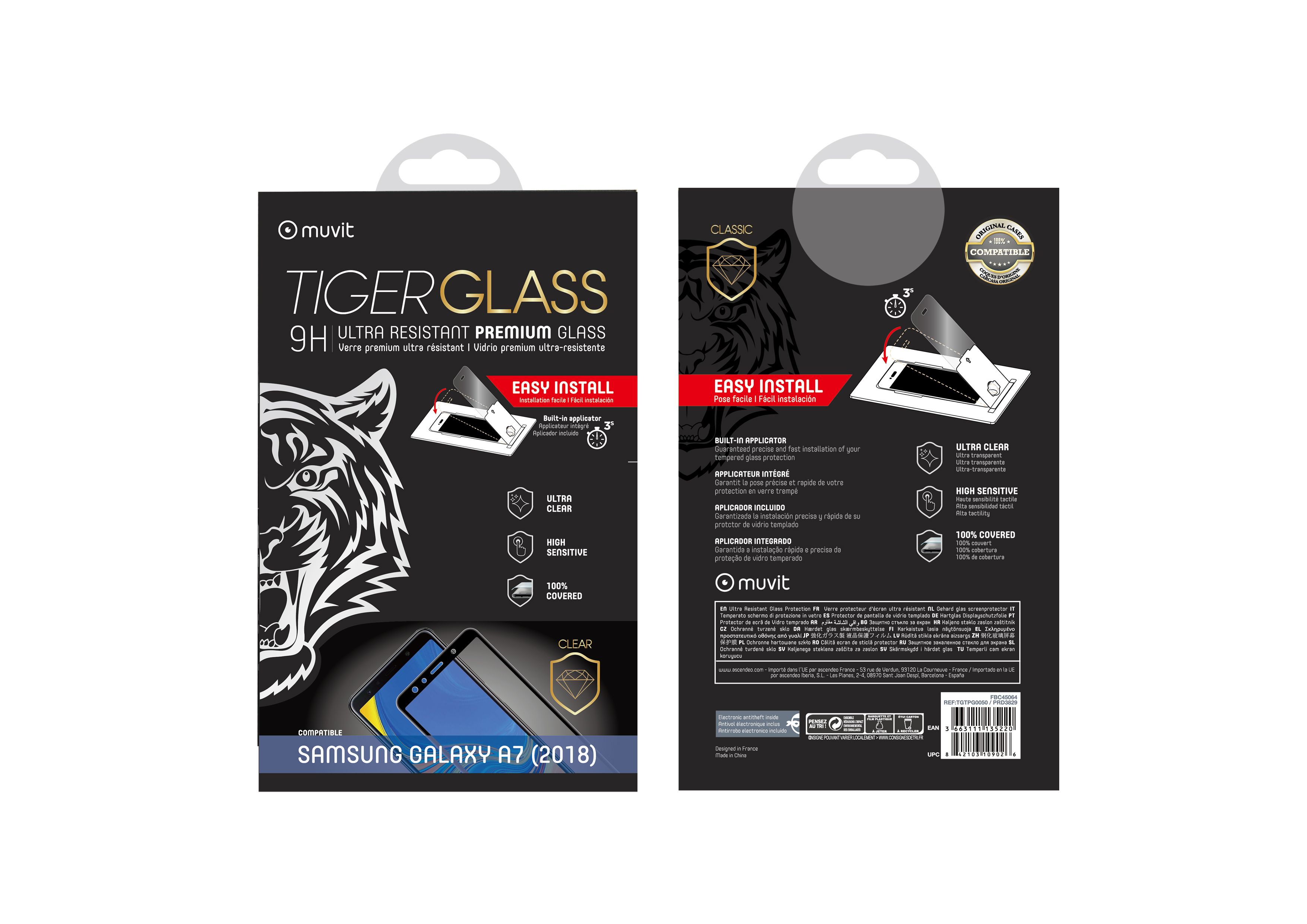Film Tiger Glass Galaxy J6 Plus transparente