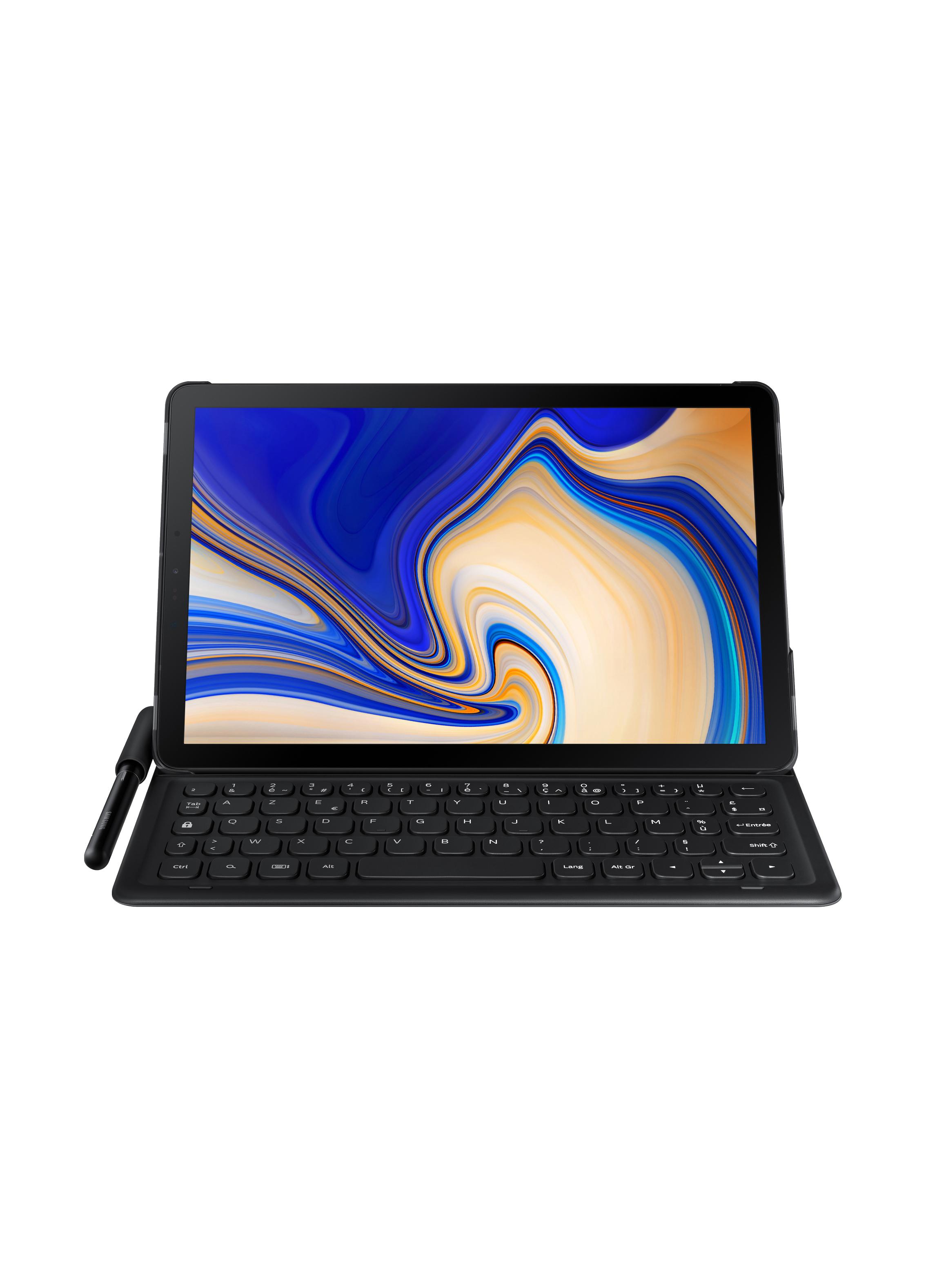 Book cover keyboard Galaxy Tab S4 noir