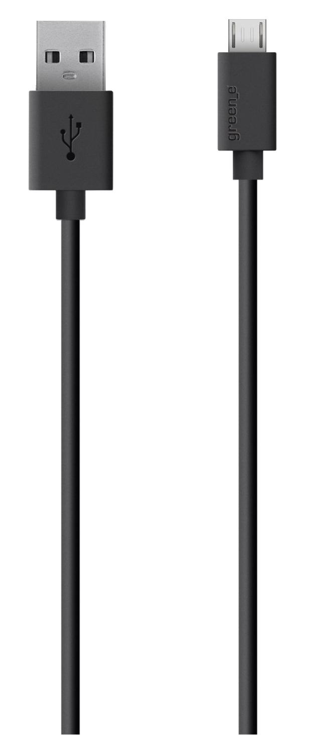 Câble écologique micro USB 2.4A 130cm noir