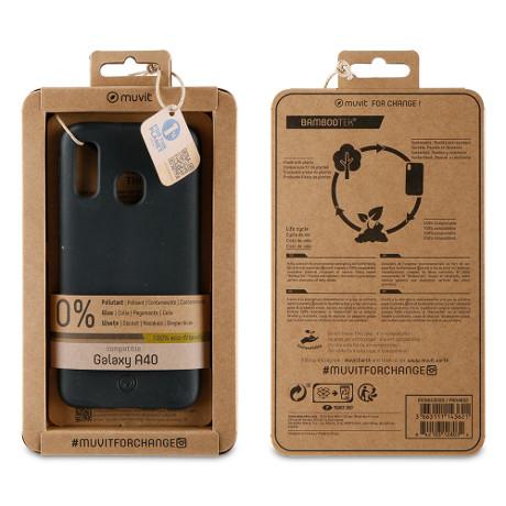 Coque Bambootek Galaxy A40 noir