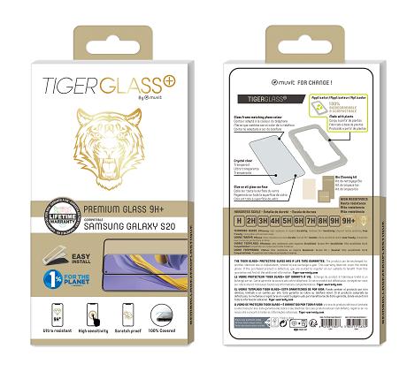 Film Tiger Glass+ Galaxy S20 transparente