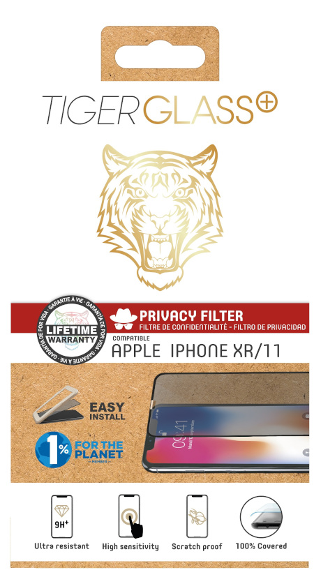 Film Tiger Glass+ privacy iPhone XR / iPhone 11