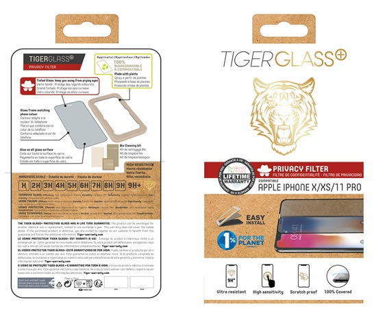 Film Tiger Glass+ privacy iPhone Xs / iPhone 11 Pro