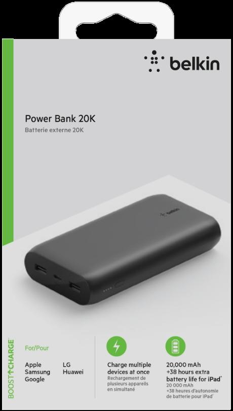 Batterie externe Belkin 20000 mAh noir