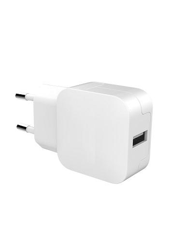 Tête de charge 2.4A, 1 port USB blanc