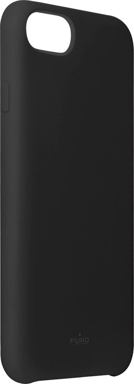 Coque silicone iPhone SE noir