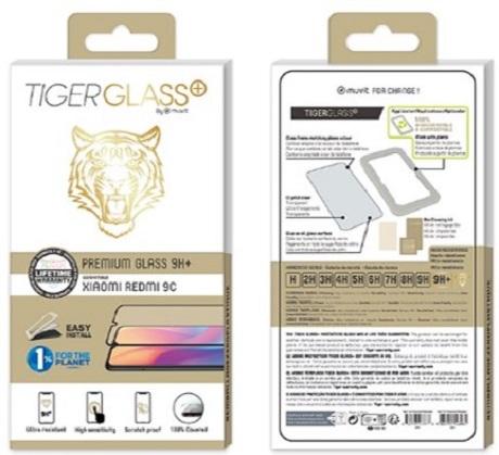 Film Tiger+ Xiaomi Redmi 9C NFC transparente