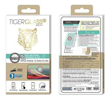 Film Tiger Glass+ iPhone 12 Max transparente