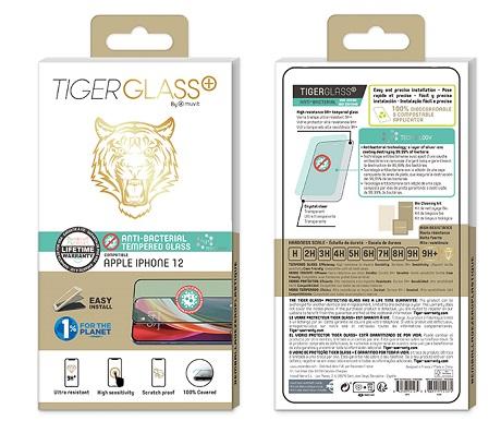 Film Tiger Glass+ iPhone 12 transparente