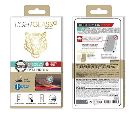 Film Tiger Glass+ privacy iPhone 12 transparente