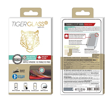 Film Tiger Glass+ privacy iPhone 12 Max transparente