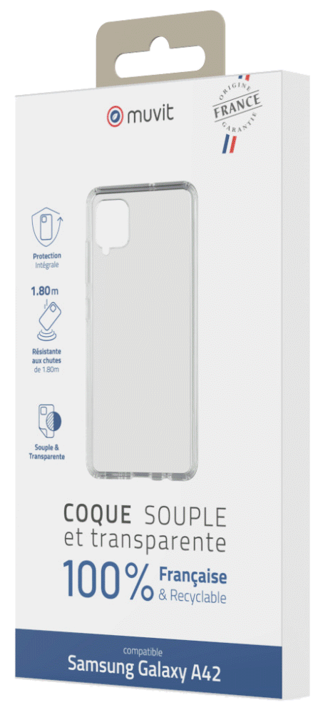 Coque Made in France Samsung Galaxy A42 5G transparente