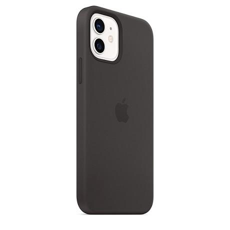 Coque en silicone avec MagSafe pour iPhone 12 / 12 Pro noir