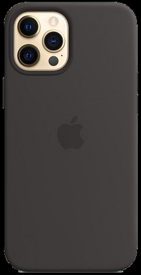 Coque en silicone avec MagSafe pour iPhone 12 Pro Max noir