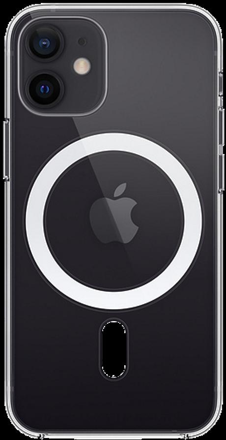 Coque avec MagSafe pour iPhone 12 mini transparente