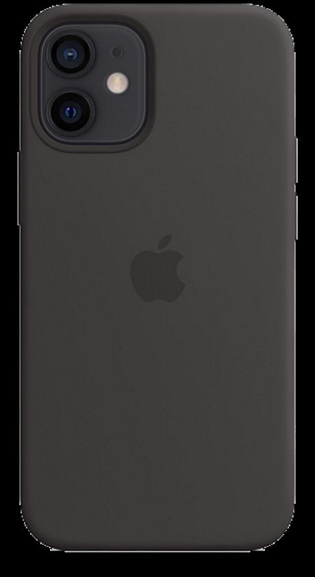 Coque en silicone avec MagSafe pour iPhone 12 mini noir