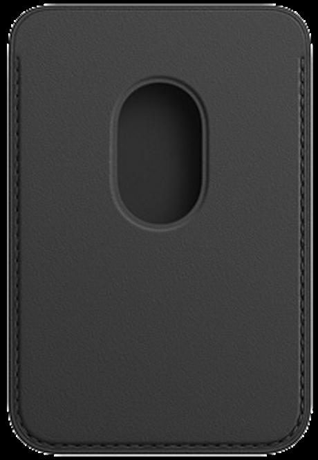 Porte-cartes en cuir avec MagSafe pour iPhone noir