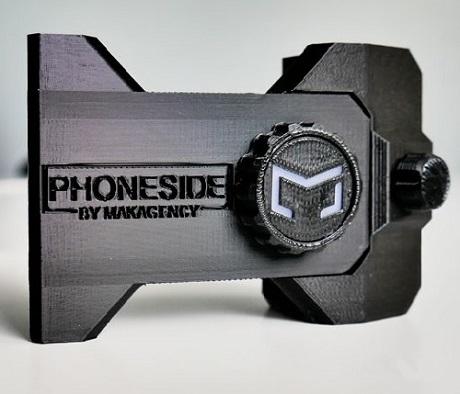 Support de smartphone Phoneside pour écran d'ordinateur noir