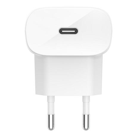 Chargeur secteur rapide Belkin 20W USB-C blanc