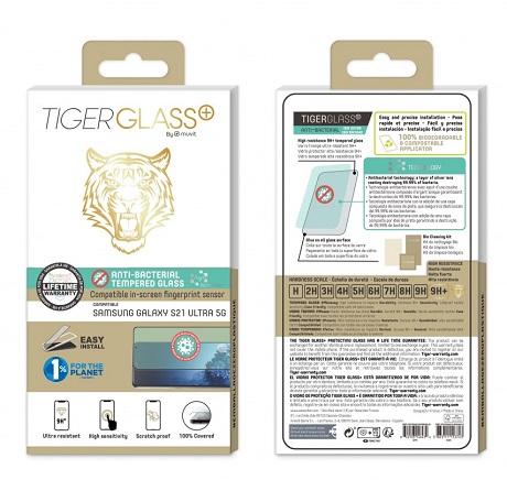 Film Tiger Glass+ Samsung Galaxy S21 ultra transparente