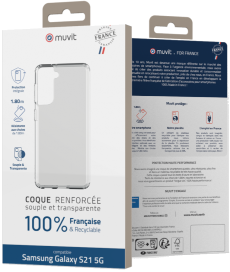 Coque renforcée Made in France Samsung Galaxy S21 5G