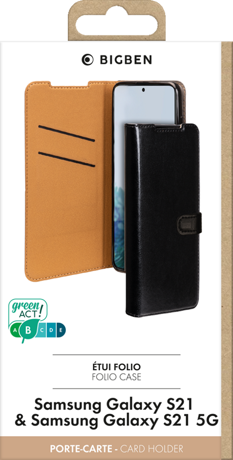 Etui folio Wallet Samsung Galaxy S21 5G noir